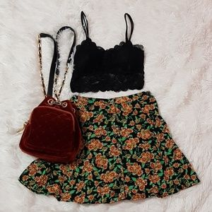 🍃🌼 FLORAL BUTTON UP SHORT SKIRT BRANDY STYLE🌼🍃